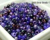Ultimate Tanzanite Seed bead Mix 50 grams Loose size 6
