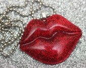 BIG Sexy Kiss - Resin Lips Necklace