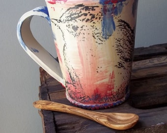 Marsh Wren Mug and Spoon Set - Made to Order