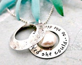 She Believed She Could So She Did Necklace - Secret Message Jewelry - Locket Necklace - Inspirational Jewelry - Motivational - Gift For Her