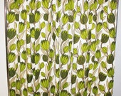 60s Mid Century Curtains Lotus Designed By Lawrence Peabody Sears Drapes Floral 1960s