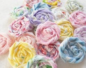 "Fabric Flowers Rolled Roses Hairclip Pinwheels Shabby Chic Wedding 10 Rosettes 2"" Photo Prop Birthday Party Wholesale"
