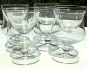 Shrimp Cocktail, Seafood, Hors D'oeuvre or Ice Cream Dessert Double Cooled Glasses, Elegant Stemware