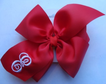 Letter Monogram, Valentines Day, Hair Bows, Large Red, Hairbow, Formal School, Dance Clip, Initial Boutique, Tie Girls, Wedding Flower, Bows