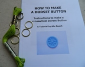 DIY KIT Dorset Button Making Kit - Green - How to Make 6 Buttons