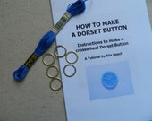 DIY KIT Dorset Button Making Kit - Dark Delft Blue - How to Make 6 Buttons