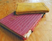 Antique Books, Miniature Books, Rubaiyat of Omar Khayyam, and Thoughts From Carlyle with Suede Leather Cover. Tiny books, Old Books.