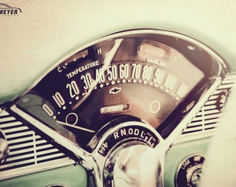 Chevy Bel Air Dashboard -  Automotive Art -  Home Decor