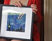 ANY FAERIE TALE small framed limited edition prints of the faerie tale feet series by hallie m. gillett