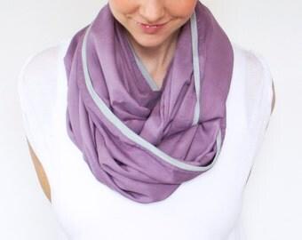 Infinity Nursing Scarf, Gentle Purple