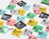 Vintage Alphabet Mini Tags by Studio Pebbles