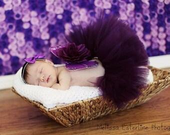 Purple Tutu, Eggplant, Plum Purple Girls Tutu, Custom Sewn Tutu, 6'' length, sizes Newborn to 5T