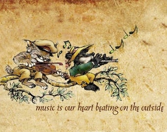 Fox Hollow Tales, Music is our heart beating on the outside, greeting cards