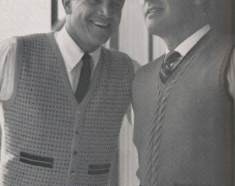 Men's V-Neck Vest Pattern (LEFT) (MenBern)