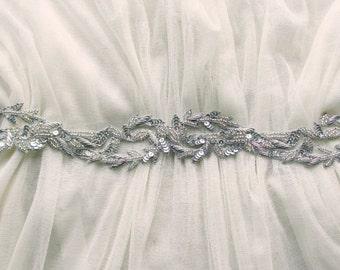Aphrodite beaded silk sash belt