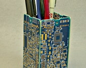 Recycled 24K GOLD Circuit Board Blue Office Product Pencil BOX pb50