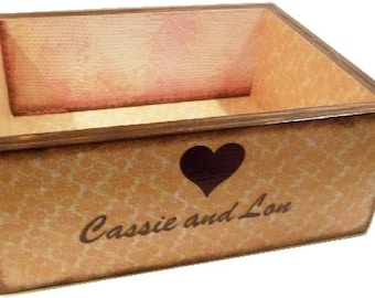 Wedding Card Box, Recipe or Kitchen Storage Organization Box, LARGE Trinket, Coffee Table Box, Will Hold 5 x 7 Cards Flat, MADE To ORDER