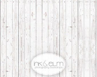 "Backdrop 4ft x 3ft NEW, Vinyl Photography Backdrop Old White Wood Floor, Vintage Wood photo background, Photo prop floordrop, ""White Oxen"""