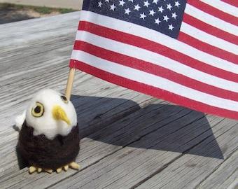 Needle Felted Bald Eagle-Americana-Patriotism