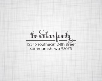 Simply Script Personalized Return Address Stamp
