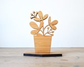 Black Friday, Cyber Monday, Sale, Small Houseplant Wood Object, Style B