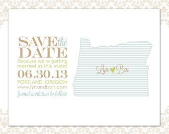 State Save the Date Oregon