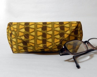 Eyeglass Case or Sunglass Case - Graphic Gold