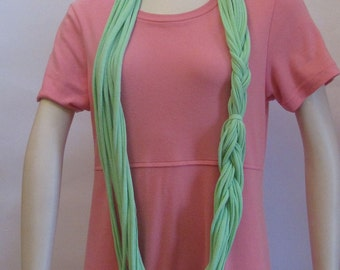 Light Green Jersey Scarf Handmade by Fashion Green T Bags