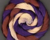 Size 10 50 yards Hand Dyed Cotton Crochet Thread purple yellow rust Sonora