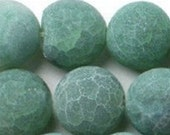 14mm round green faceted Agate Gemstone  Beads quantity:  10  drw93