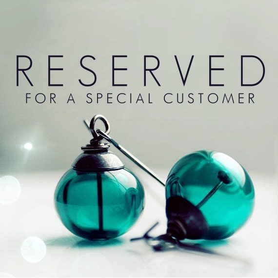 RESERVED for Natalie - Glass Earrings, Clear Metallic Dotted Blown Glass, Gunmetal and Sterling Silver - Send in the Clowns
