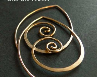 Small Golden Spirals - 14K Goldfilled hoops or earrings