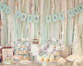 Let Them Eat Cake Banner French Marie Antoinette for Birthday Party Wedding Shower Baby