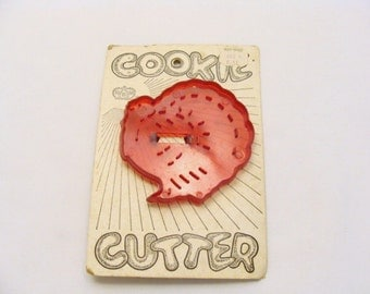HRM Turkey on Original Card -  Collectable Vintage Imprint Cookie Cutter