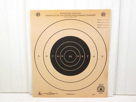 photo regarding Printable Nra Pistol Targets identified as Gradual Fireplace Pistol Plans: Nra Formal Global Pistol