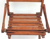 Vintage Child's Wood Folding Chair