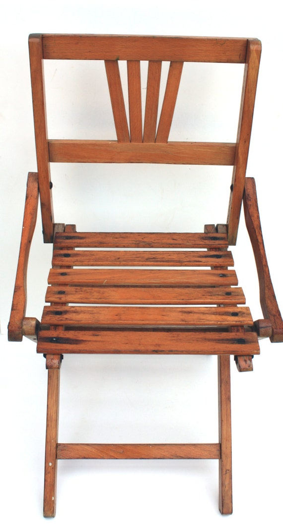 vintage child 39 s wood folding chair