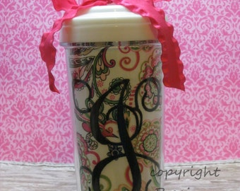Monogrammed 20 oz. Travel Tumbler completely custom
