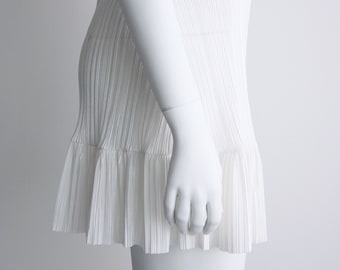 Mini Slip, Pleated Slip, Slip Skirt, White Slip, White Half Slip, Pleated Skirt, White Skirt, Cream Skirt, Norwegian Wood, Underskirt