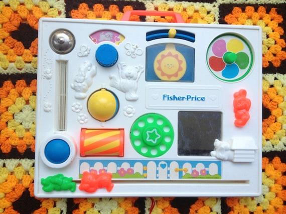 80s Fisher Price Baby Crib Toy