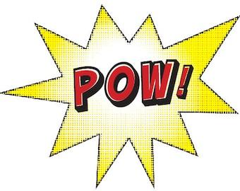 Superhero POW! Sign