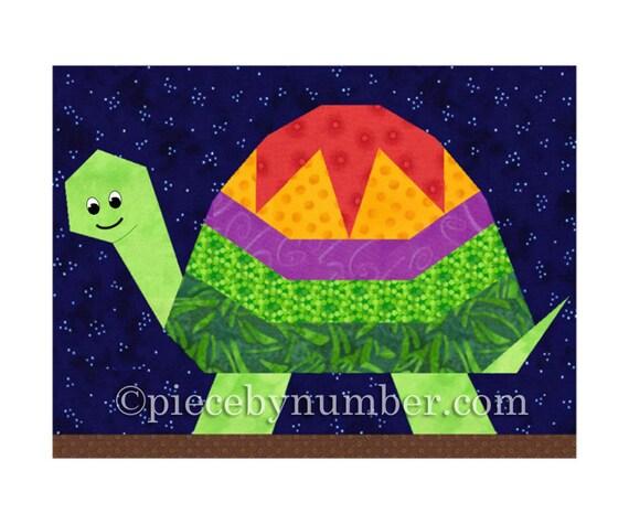 Turtle quilt block pattern paper piecing quilt patterns