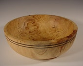 Texas Spalted Pecan bowl turned wood bowl number 5283