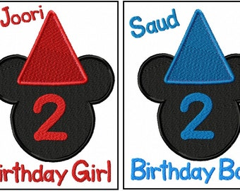 LISTING for TWINS  Custom Mickey Mouse Birthday Shirt