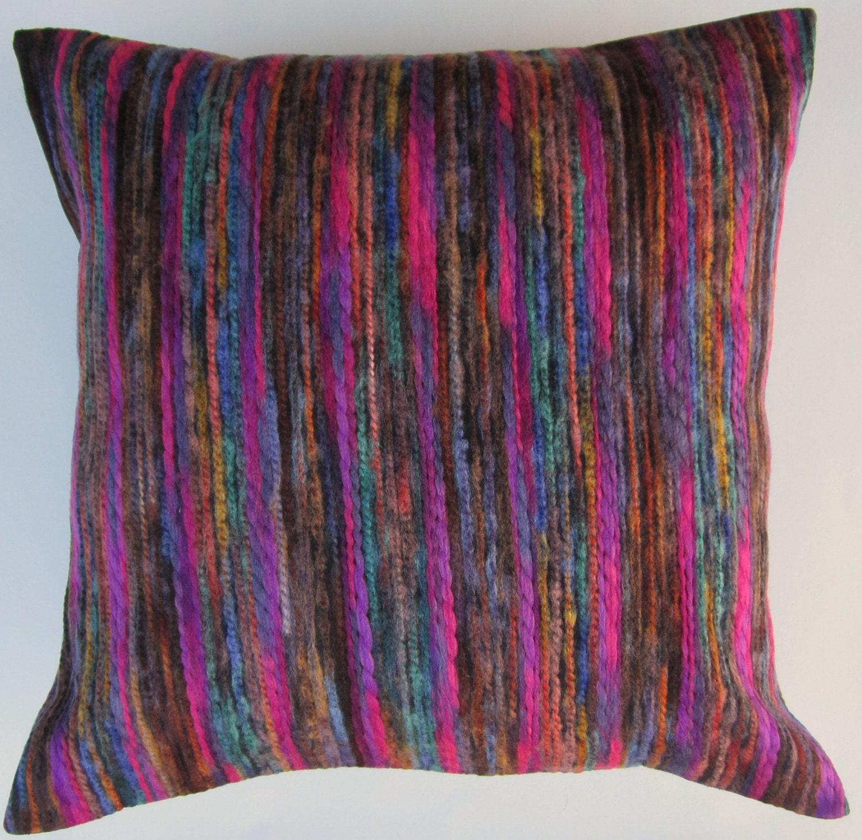 Purple Pillow Multi Color Magenta Purple Teal Brown Blue
