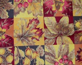 Fall Leaves Fabric - 1 yard