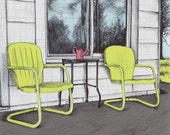 Vintage Lawn Chairs  - Art Print - Just You and Me
