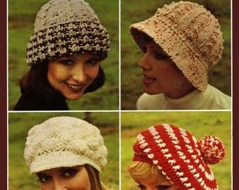 Sirdar DK Peaked CAP & SCARF Crochet Pattern 8577