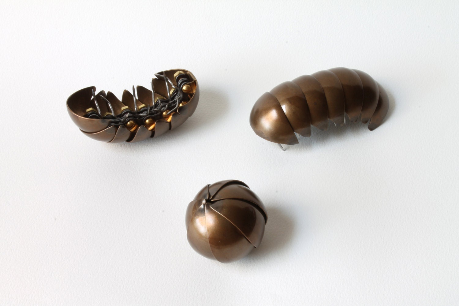 brass pillbug with light bronze patina. Black Bedroom Furniture Sets. Home Design Ideas