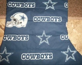 Handmade Oversized Quilted Christmas Stocking Dallas Cowboys Xmas Football